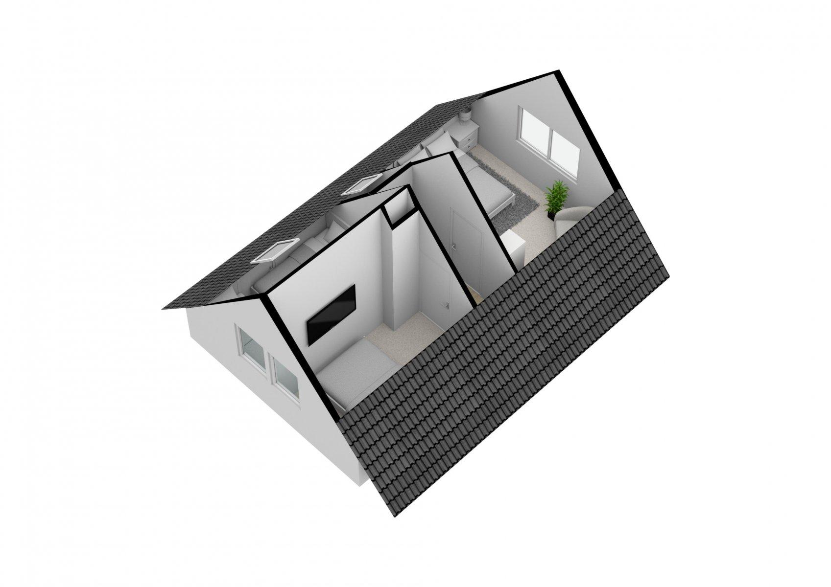 Der 3-D-Grundriss vom Obergeschoss