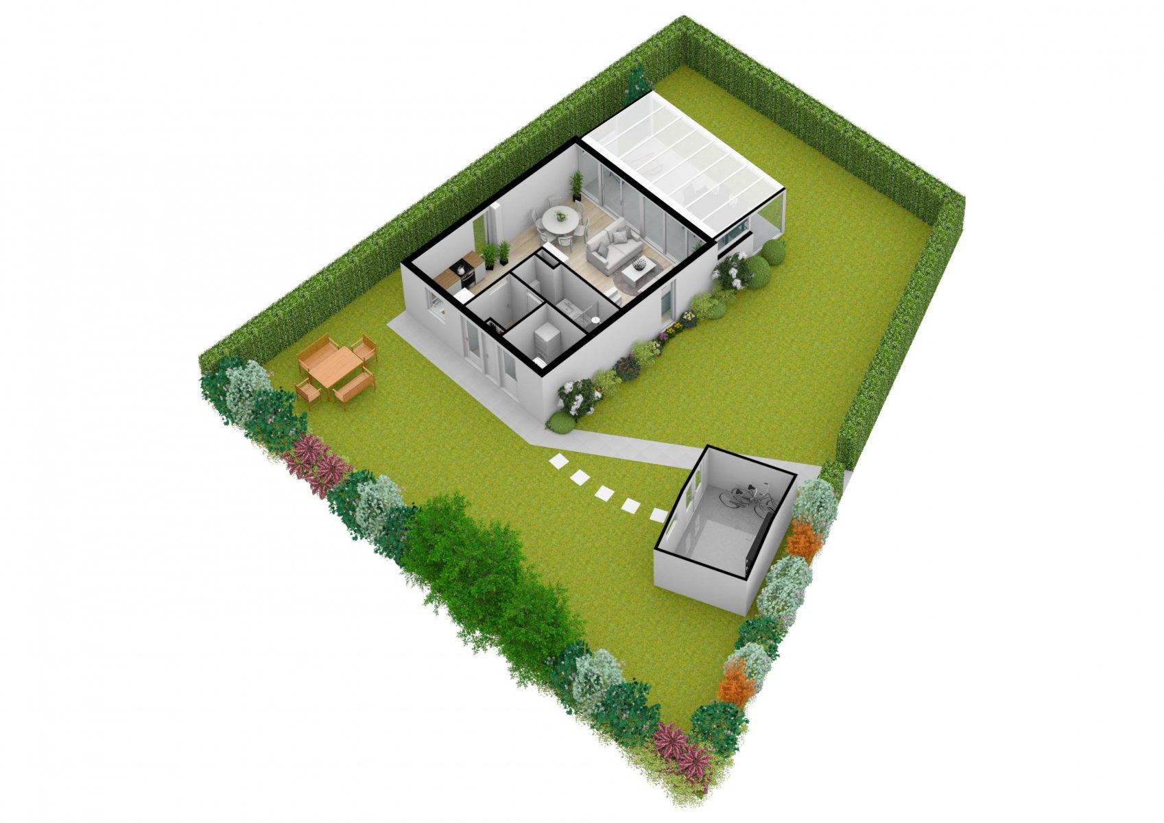 Der 3-D-Grundriss vom gesamten Grundstück