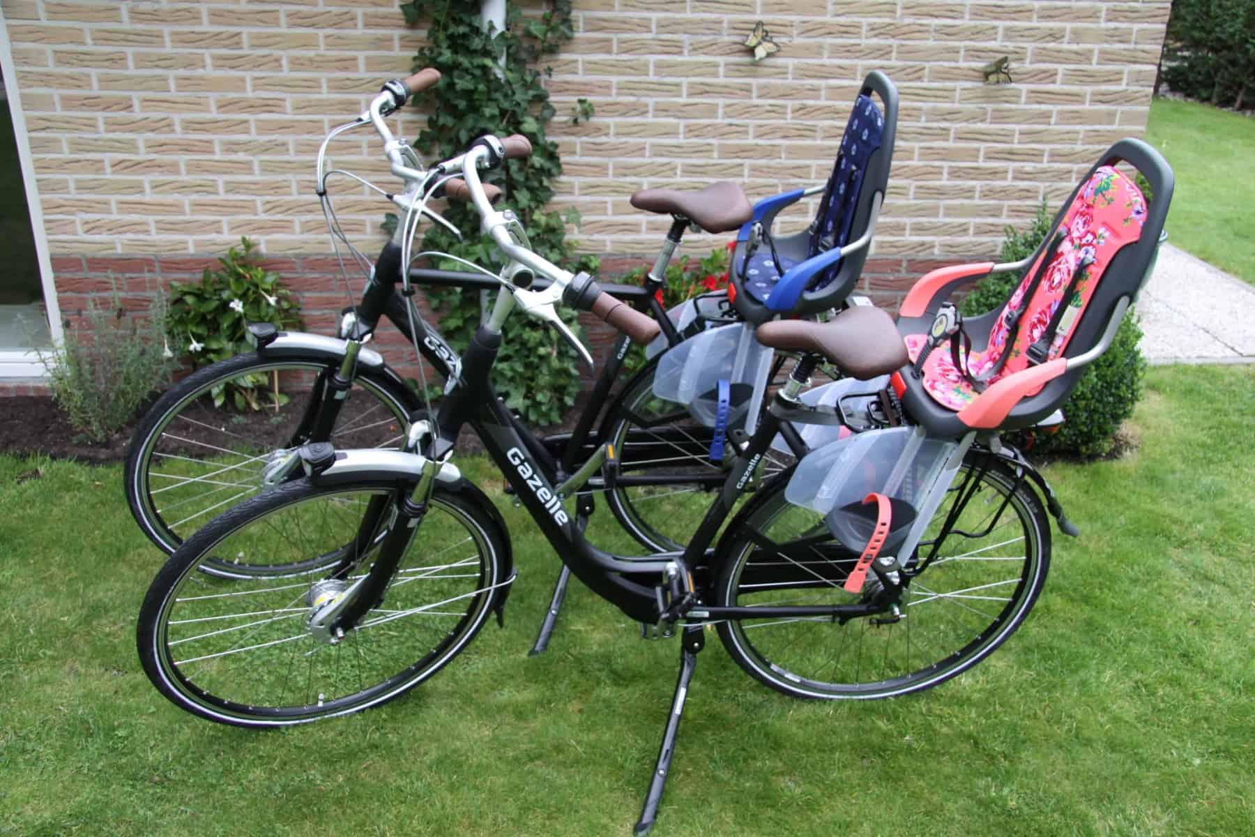 2 Gazelle-Räder mit Kindersitzen (passen auf alle Räder)