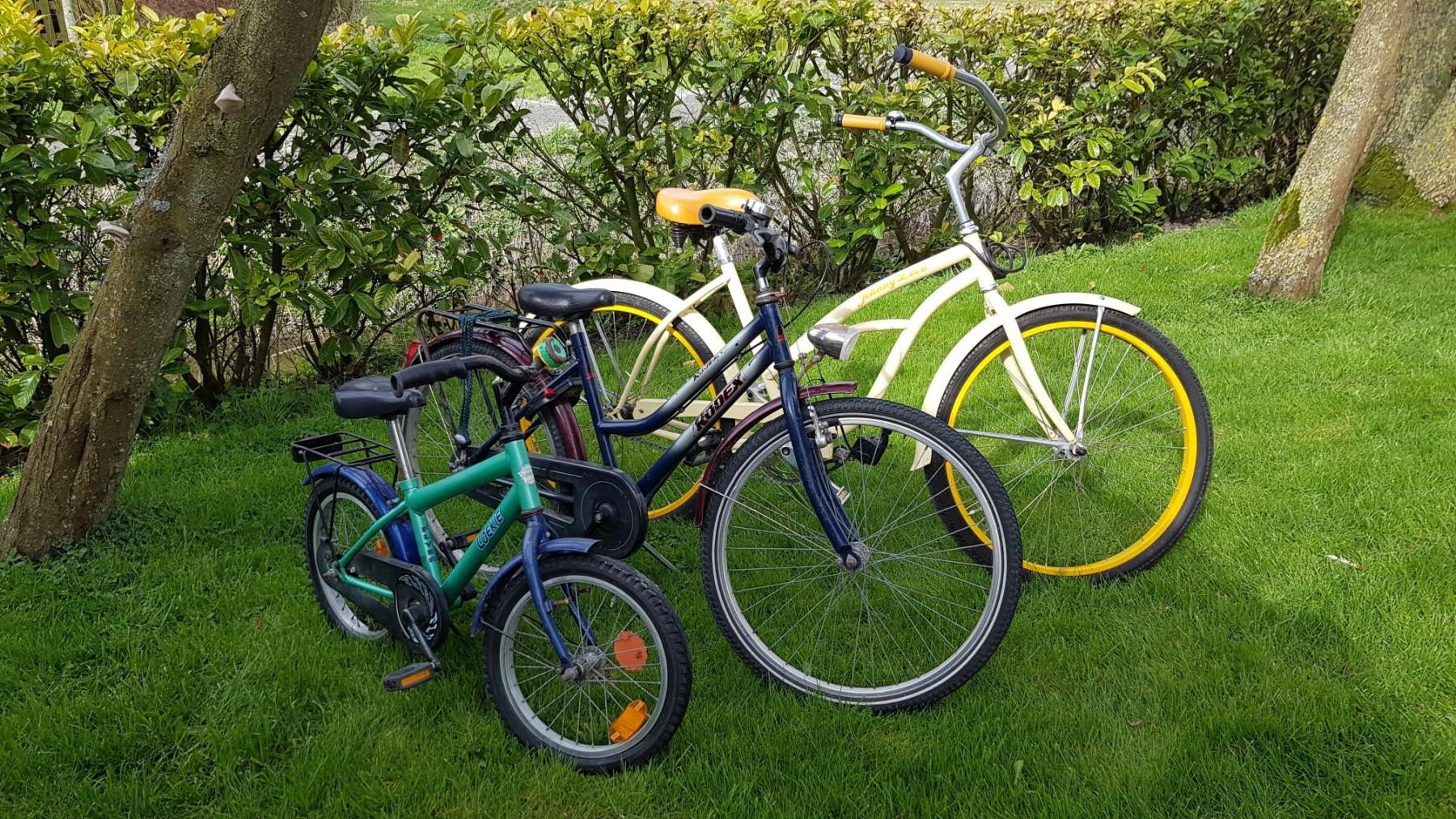 Die hauseigenen Kinder-Fahrräder
